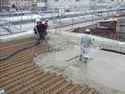 後日、コンクリート打設時の写真です。