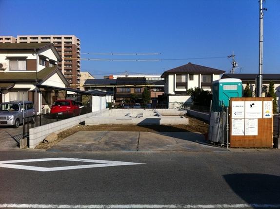 基礎のコンクリートが完了です。